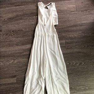 White Zara Romper Outfit
